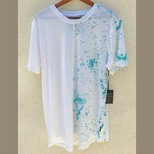 NWT, Mens Splattered Paint T Shirt